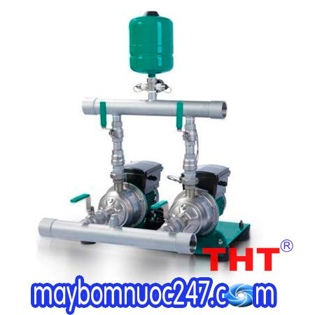Cụm 2 bơm tăng áp biến tần chịu nhiệt WILO PBI-LD 403EA 1.1kw * 2